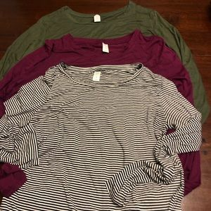 OLD NAVY Lot of 3 Long Sleeve Shirts Size XL